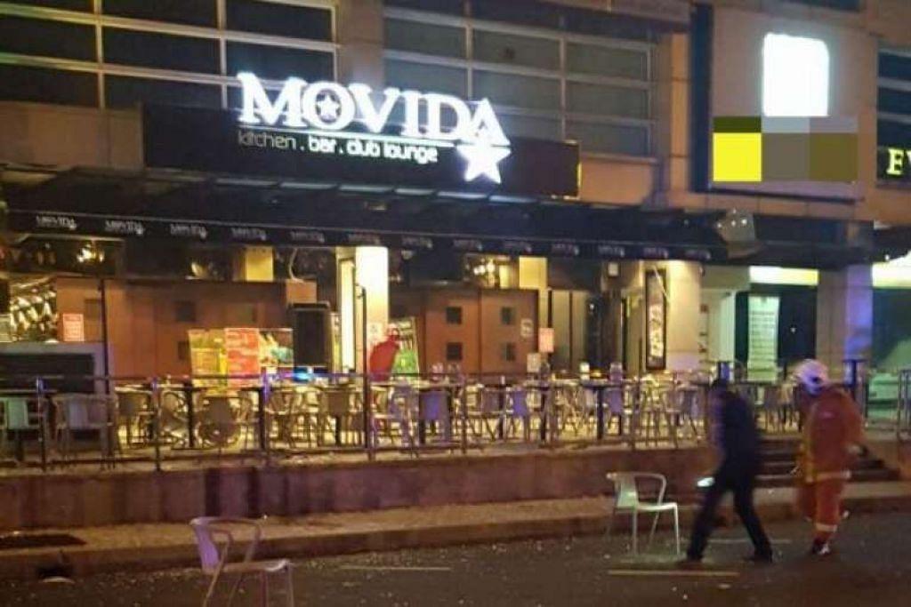 Letupan berlaku di anjung depan sebuah pub di IOI Boulevard.