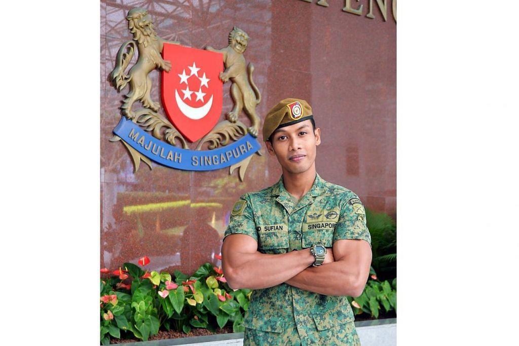 DEMI KESELAMATAN: Apa sahaja boleh berlaku bila-bila masa. Bagi Sarjan Mejar Muhammad Sufian Anuar, adalah penting bagi anggota operasi perkhidmatan sentiasa bersedia kerana kita tidak boleh memandang ringan pada keamanan di Singapura. – Foto KHALID BABA