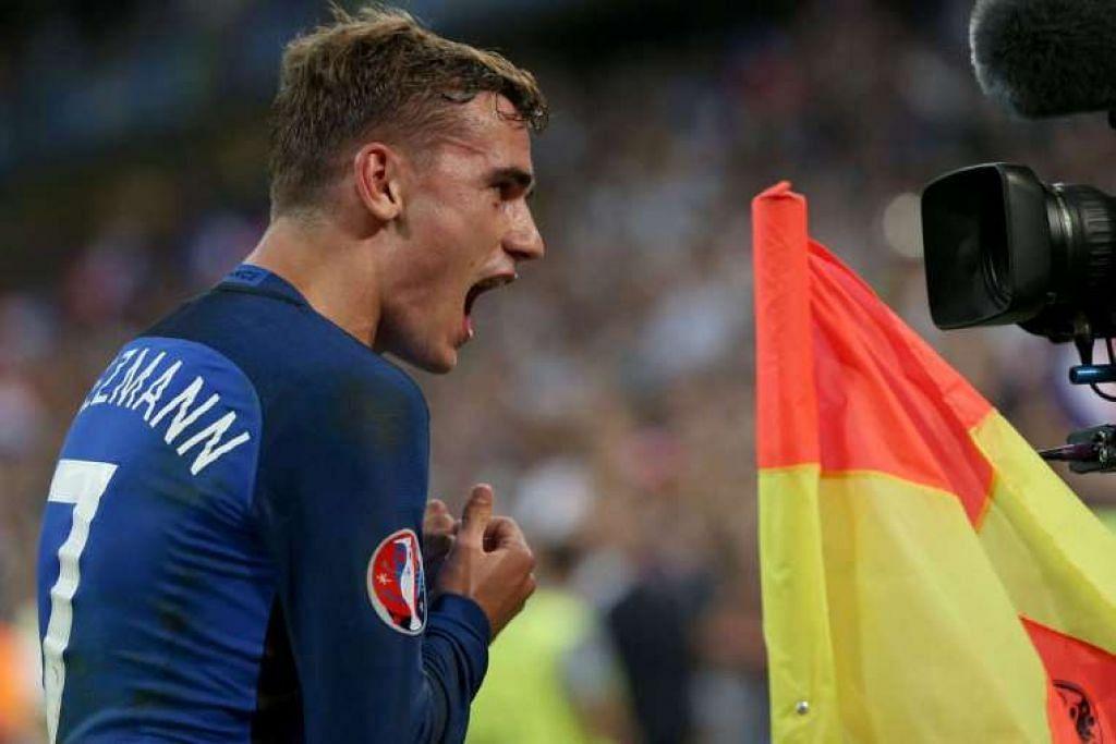 Antoine Griezmann membawa Perancis ke final Euro 2016 dengan menjaringkan dua gol bagi tuan rumah itu.