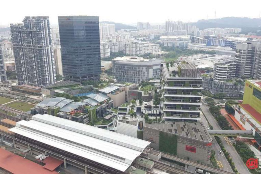 Pandangan dari udara kawasan Jurong Gateway hari ini.