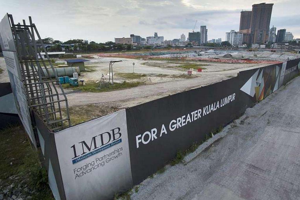 Tapak daerah kewangan Bursa Tun Razak milik 1MDB di Kuala Lumpur.