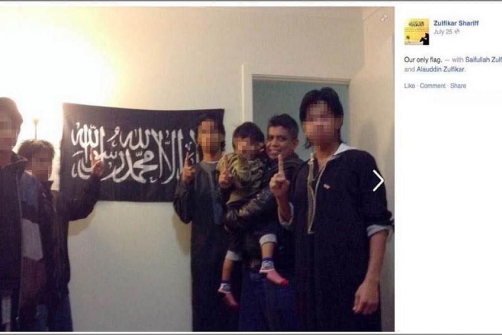 SOKONGAN KEPADA ISIS: Foto yang dikongsi MHA mendedahkan Zulfikar memberi sokongan kepada ISIS. - Foto MHA