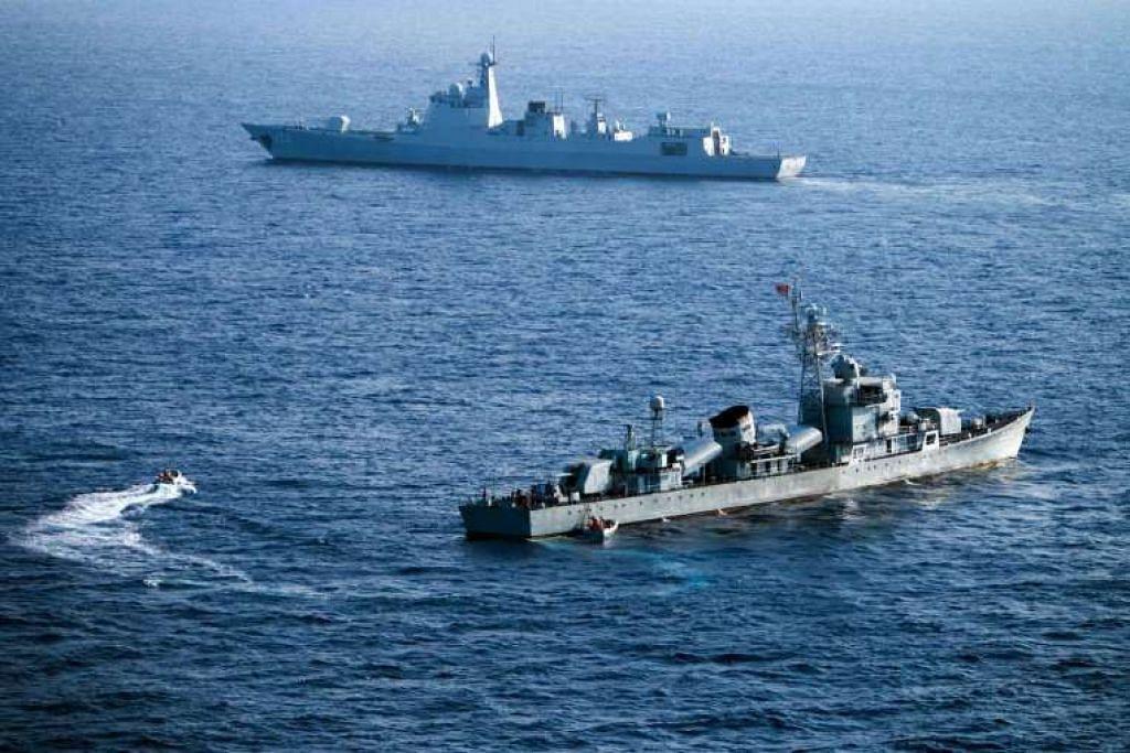 Kapal dalam Armada Laut Selatan China mengambil bahagian dalam latihan di Kepulauan Xisha, atau Kepulauan Paracel, di Laut China Selatan.