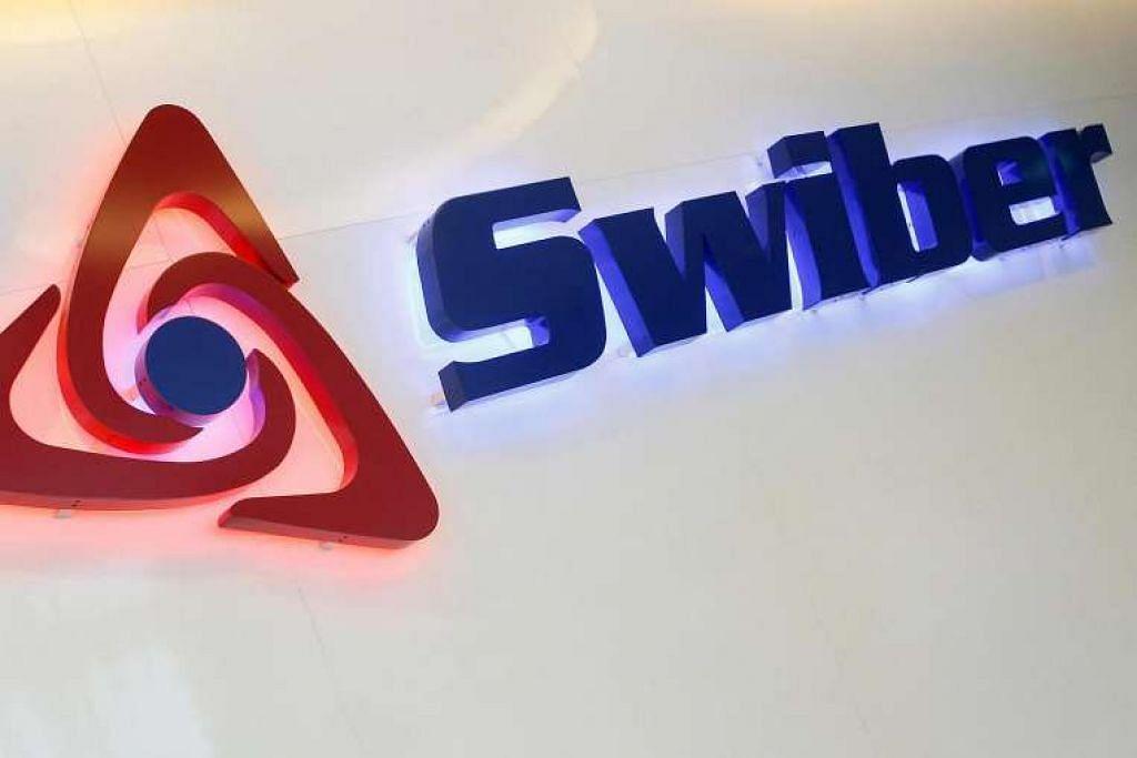 Logo Swiber di pejabat mereka di Singapura pada 2013.