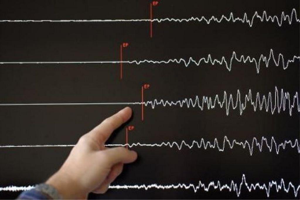 BENCANA ALAM:  Gempa bumi lemah berukuran 4.0 pada skala Richter melanda Ranau, dekat sini, pada 9.39 pagi tadi (26 Ogos). - Foto mSTAR ONLINE