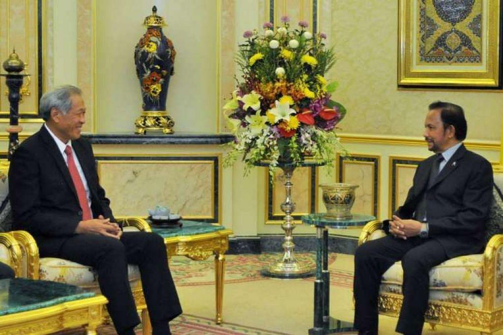 Dr Ng melakukan kunjungan ke atas Sultan Hassanal Bolkiah pada Selasa (30 Ogos).