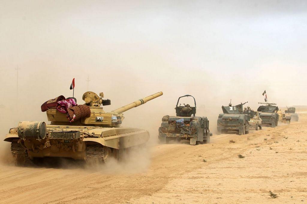 Tentera Iraq dikerah pada Isnin (17 Oktober) ke Al-Shurah, sebuah kawasan sekitar 45 kilometer di selatan Mosul, dalam operasi cuba merampas kembali bandar itu daripada ISIS.