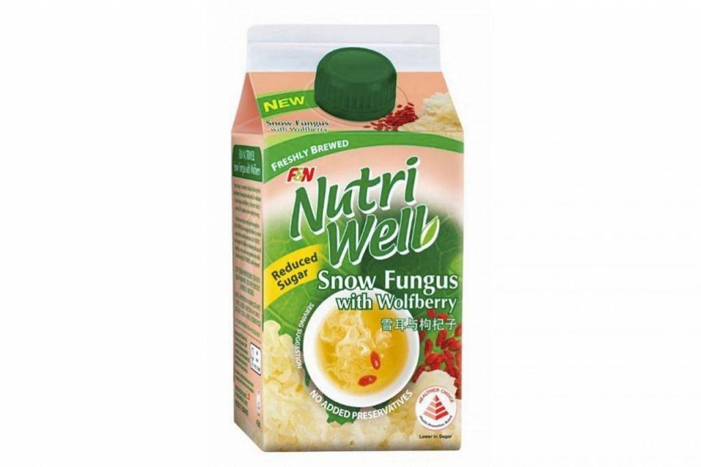 F&N NUTRI WELL SNOW FUNGUS WITH WOLFBERRY: Minuman kurang manis, tanpa bahan pengawet dan pewarna. - Foto F&N FOODS