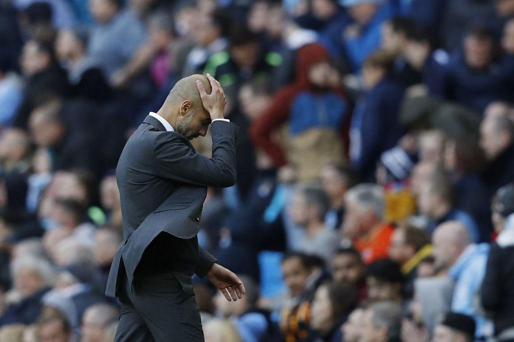 Pengurus Manchester City, Pep Guardiola, kelihatan kecewa apabila pasukannya hanya seri  1-1 dengan Southampton dalam perlawanan EPL di Stadium Etihad pada Ahad (23 Okt).