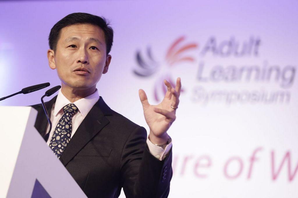 Encik Ong Ye Kung berucap semasa Simposium Pendidikan Orang Dewasa pada 3 November 2016