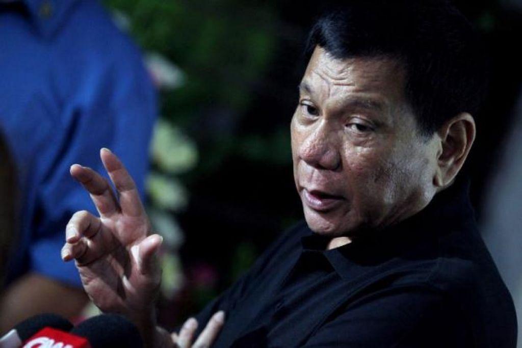 Adu sakit: Presiden Filipina, Encik Rodrigo Duterte mendedahkan beliau kini menghadapi sakit belakang dan sakit kepala. - Foto mStar Online
