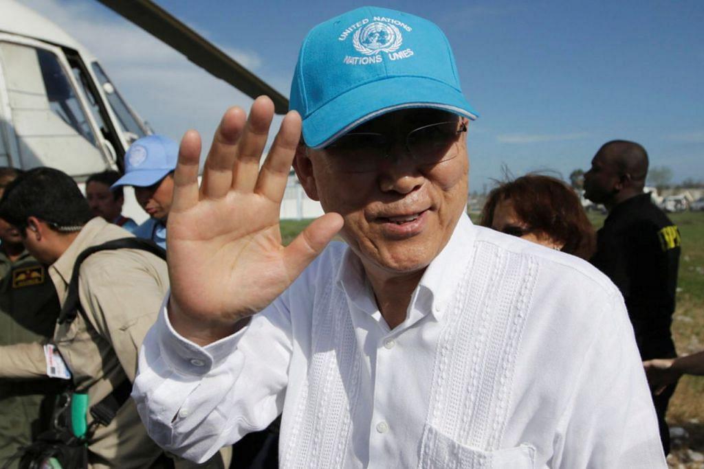 ENCIK BAN KI-MOON: Walaupun belum rasmi diumumkan, beliau calon utama pilihan raya presiden Korea Selatan. - REUTERS