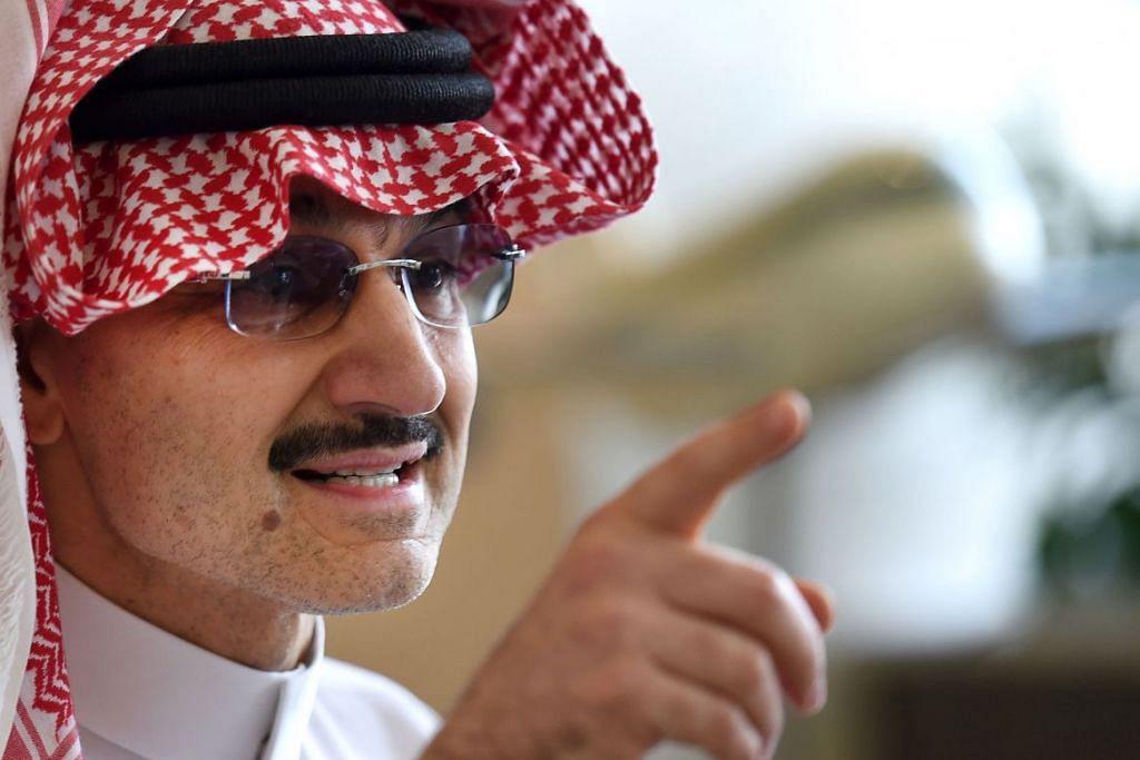 Kekayaan Putera Alwaleed Bin Talal Al Saud dari Arab Saudi berkurangan 20 peratus, iaitu AS$4.9 bilion, pada 2016.