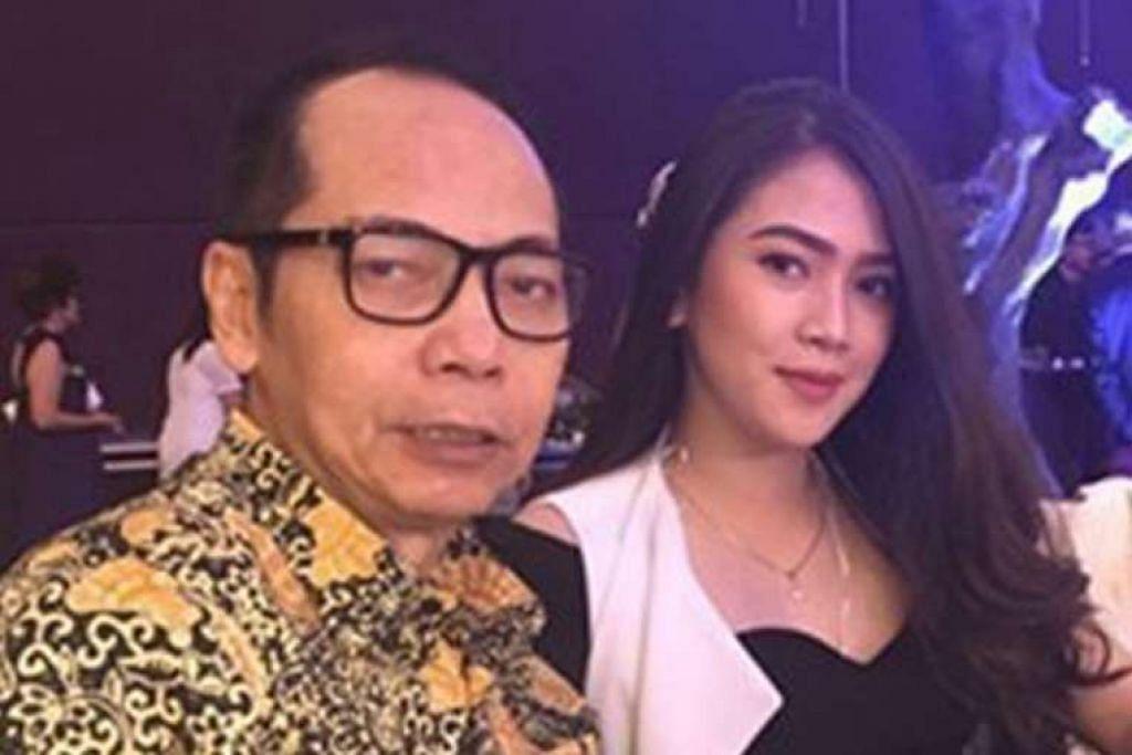 Gambar yang diterbitkan semula dalam akhbar The Jakarta Post menunjukkan jutawan Dodi Triyono dan balu beliau, Cik Agnesya Kalangi, yang dilaporkan hamil tujuh bulan.