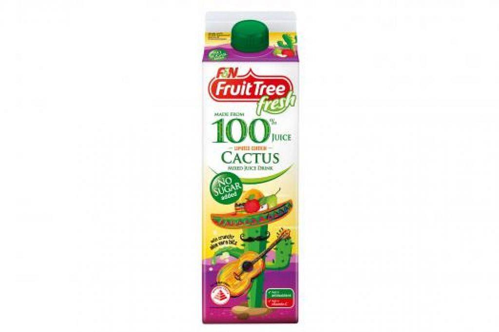 KAYA ZAT: Jus kaktus ini mengandungi pelbagai vitamin seperti vitamin A, B-Kompleks dan vitamin C. - Foto F&N