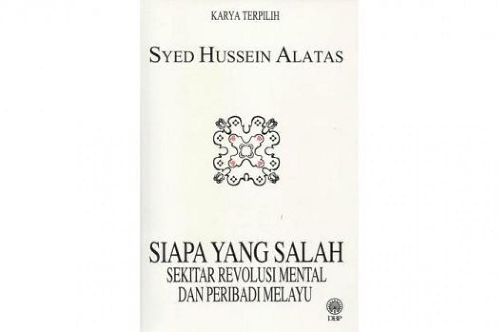 BUKU ILMIAH BERNILAI KLASIK: Buku 100 halaman ini mengkritik bukan saja antara pandangan tidak berasas buku Revolusi Mental' (1971) terbitan Parti Umno, malah turut menyelitkan teguran terhadap buku The Malay Dilemma' (1970) tulisan Dr Mahathir Mohamad. - Foto kulit buku DBP Malaysia