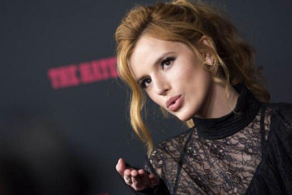 PILIH LAKONAN: Meskipun mampu menyanyi, 'Bella' Thorne lebih gemar berlakon. - Foto AFP