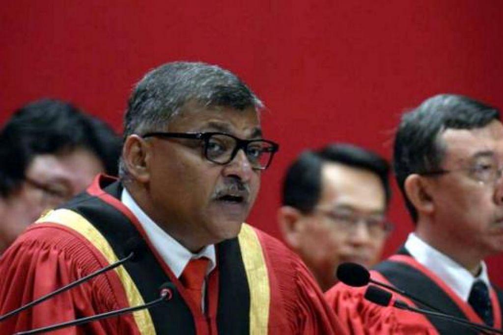 Hakim Besar Sundaresh Menon dalam majlis pembukaan Tahun Perundangan 2016. Gambar THE STRAITS TIMES