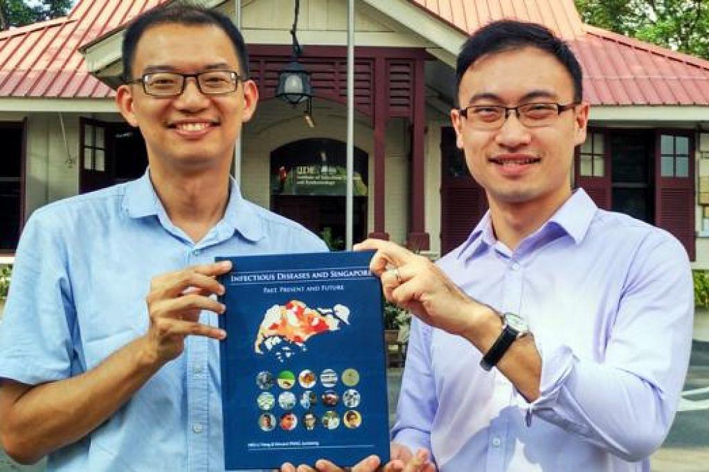 PENULIS BERSAMA: Profesor Madya Hsu Li Yang (kiri) dan Dr Vincent Pang Junxiong merupakan penulis buku Overcoming Infectious Diseases in Singapore: Past, Present and Future. - Foto STEPHEN KWA