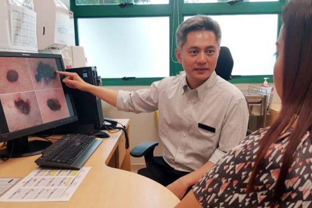 JENIS TAHI LALAT YANG PERLU DIBERI PERHATIAN: Konsultan Kanan dan Timbalan Ketua Pusat Barah Nasional Singapura (NCCS), Dr Richard Quek, berkata sebanyak 253 kes melanoma telah didiagnosis di pusat tersebut antara 2002 dengan 2014. - Foto NCCS