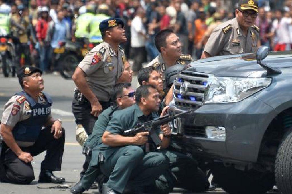 Kejadian letupan di Jakarta Foto: AFP
