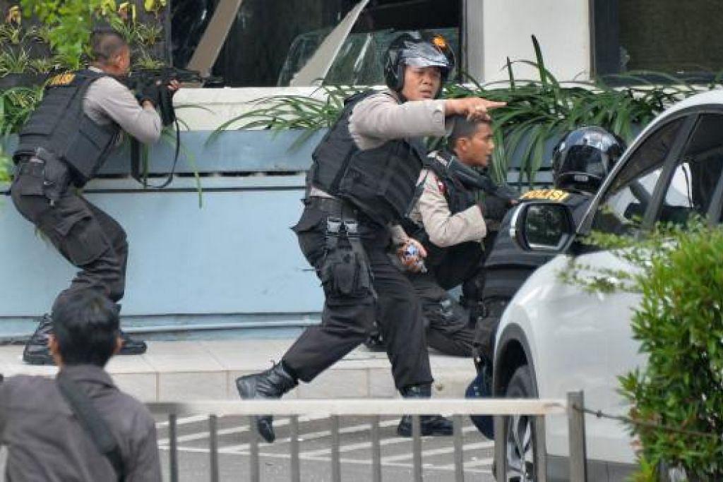 Kejadian letupan di Jakarta Foto:AFP