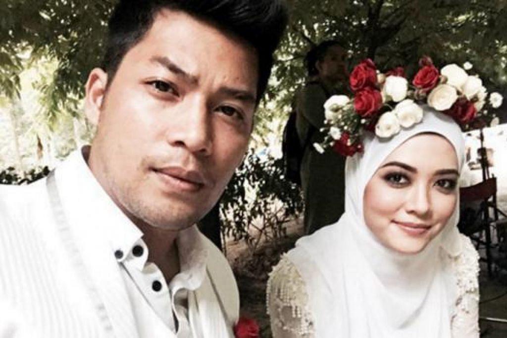 KISAH CINTA TEMAN KARIB: Drama bersiri Sha Dan Shah, yang diterajui pelakon Kamal Adli (kiri) dan Syatilla Melvin, kini mempunyai ramai pengikut di Malaysia. - Foto FACEBOOK SYATILLA MELVIN