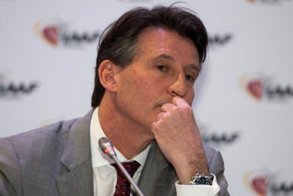 COE: Akur bahawa IAAF seharusnya sedar wujud rasuah di kalangan pucuk pimpinan badan penguasa antarabangsa sukan itu. - Foto AFP