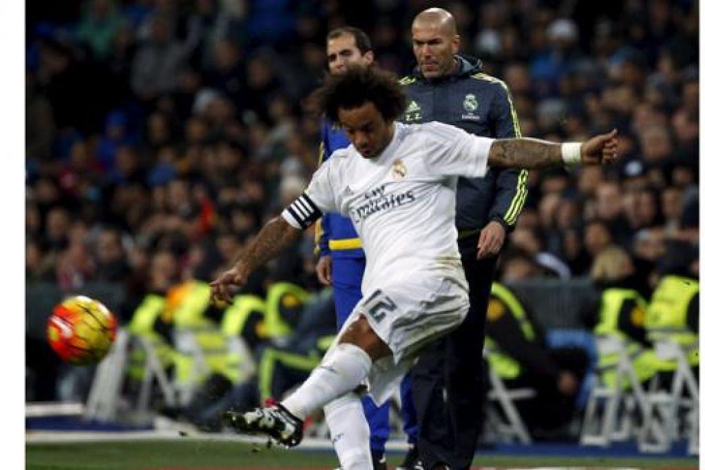 BURU KEMENANGAN: Zidane yang berharap memburu kemenangan kedua bersama Real Madrid memiliki sebuah pasukan yang berbakat bagi mencapai matlamat ini.- Foto REUTERS
