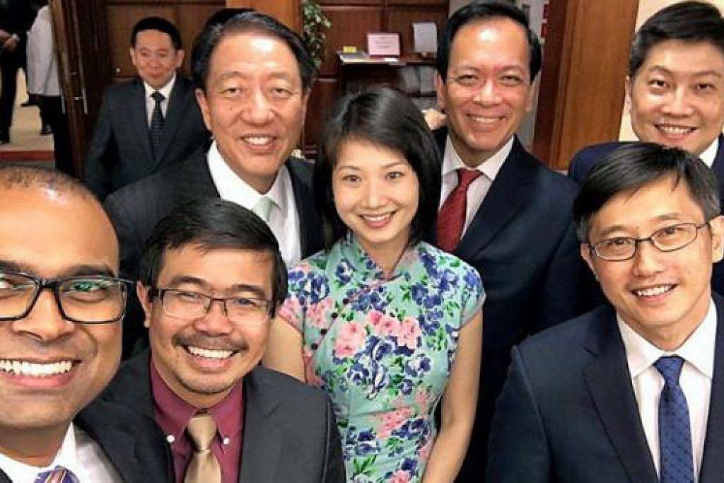 MAWAR SEKUNTUM: AP GRC Pasir Ris-Punggol dan Kawasan Undi Perseorangan (SMC) Punggol East – (dari kiri) Dr Janil Puthucheary; Encik Zainal Sapari; Timbalan Perdana Menteri, Encik Teo Chee Hean; Cik Sun Xueling; Encik Charles Chong (Punggol East); Encik Teo Ser Luck dan Encik Ng Chee Meng.