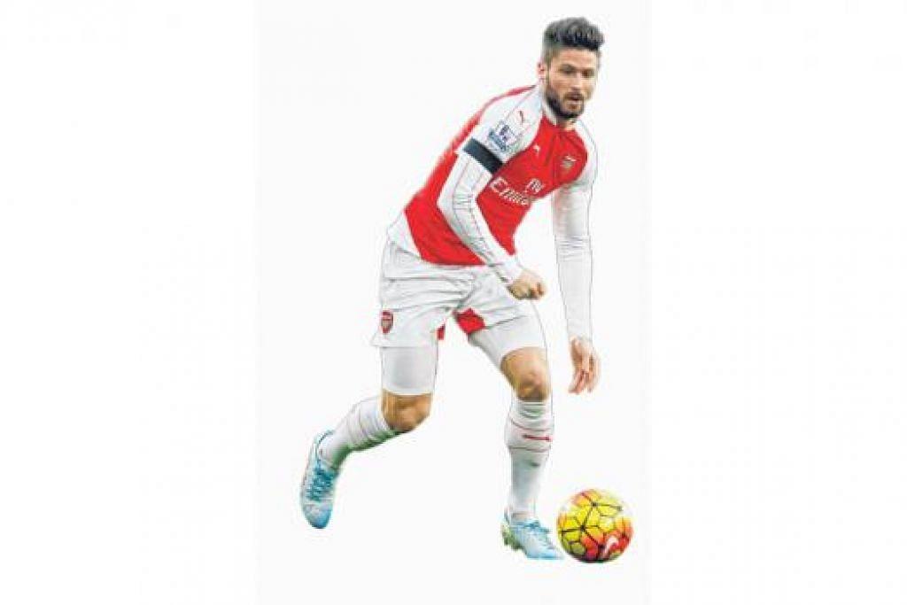 12 Gol: Olivier Giroud, Arsenal