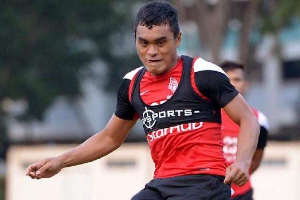 SAHUT CABAAN: Sufian ingin bersaing dengan pemain lain bagi merebut tempat kesebelasan utama V. Sundramoorthy musim ini.