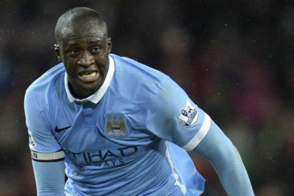 TUNGGAK PASUKAN: Yaya Toure menjadi tunggak kekuatan City sejak menyertai kelab itu pada 2010. - Foto AFP