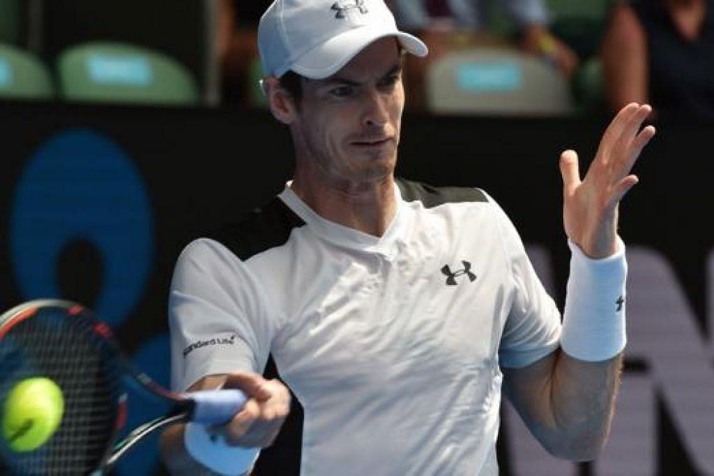TERLALU PERKASA: Murray beraksi dengan hebat dan tidak dapat ditandingi lawannya Groth di pusingan kedua semalam. - Foto AFP