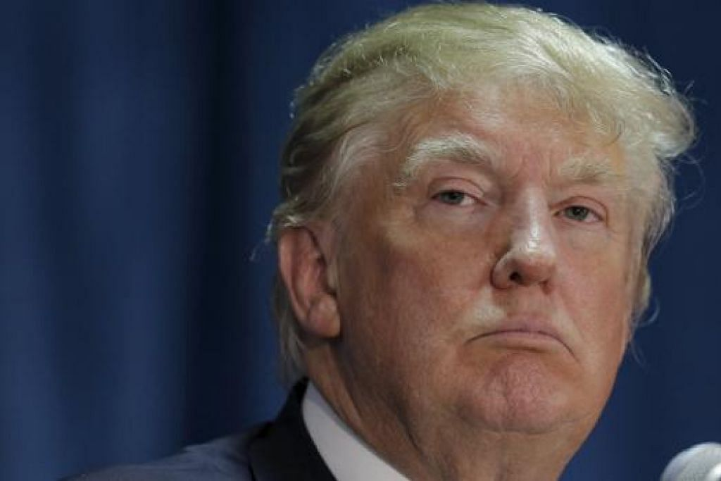 ENCIK DONALD TRUMP: Kempen 'Hentikan Kebencian Buang Trump' cuba menghalang hartawan itu daripada menjadi Presiden Amerika Syarikat yang baru. - Foto REUTERS