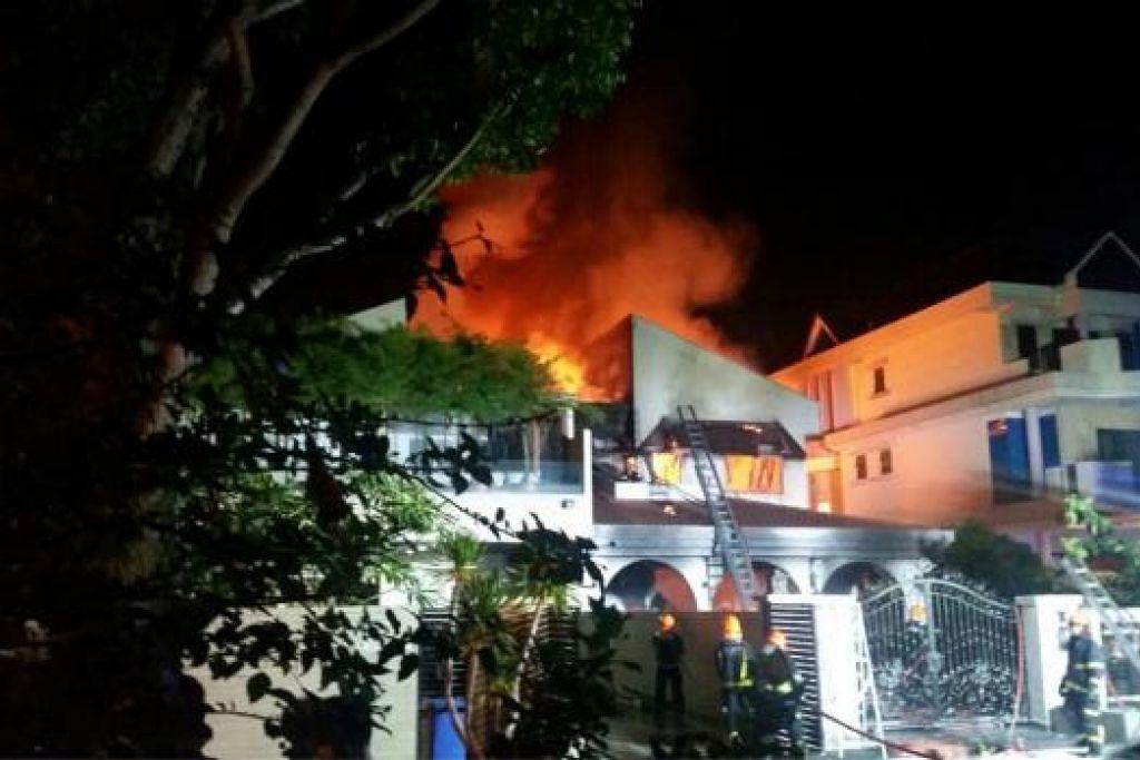 Dua orang maut dalam kebakaran di rumah di Parry Avenue ini pada Jun lalu. Api dipercayai bermula daripada bateri dron yang dibiarkan dicas semalaman tanpa penyeliaan. Gambar fail ihsan pembaca WANBAO
