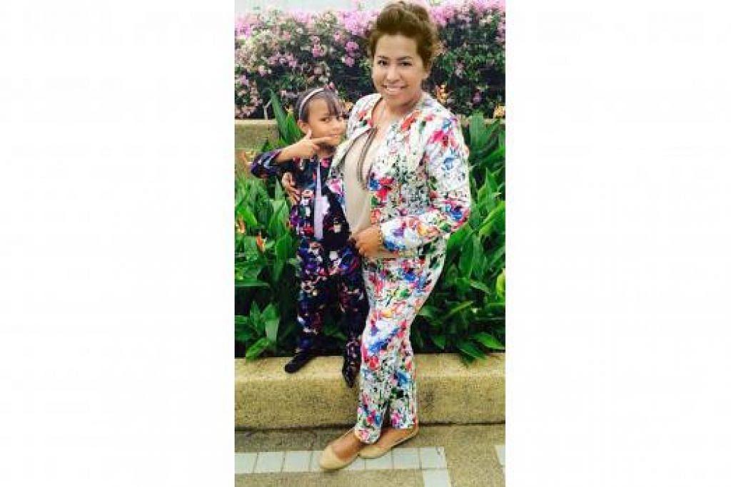 MAHU FOKUS SEBAGAI IBU: Cik Zeryn Mohd kini dapat meluangkan lebih banyak masa bersama anaknya, Alysha Nur Rizqah Zamakhair, dan pada masa yang sama menguruskan label fesyennya, Aly Rizq, selain menganjurkan beberapa bengkel bagi membantu memperkasa keupayaan dan semangat keusahawanan wanita. - Foto-foto ALY RIZQ