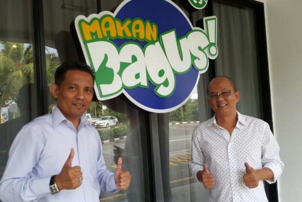 LINDUNGI STATUS HALAL: Encik Victor Sim (kanan) ialah pengasas Makan Bagus! dan Encik Zuraimi Jumaat Setiausaha Eksekutif. – Foto-foto CEF MEL DEAN