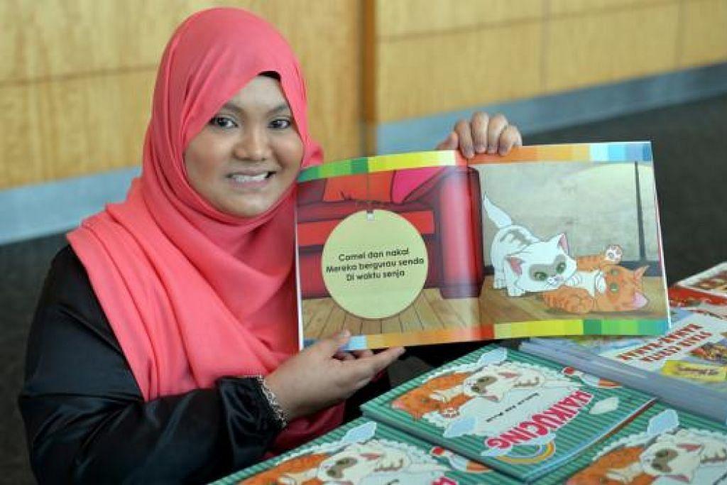 PENDEKATAN BARU: Cik Fadilah Abd Malik menghasilkan buku puisi kanak-kanak bertajuk 'Haikucing' dalam bentuk puisi haiku agar ia mudah bagi kanak-kanak faham dan ingati. - Foto M.O. SALLEH