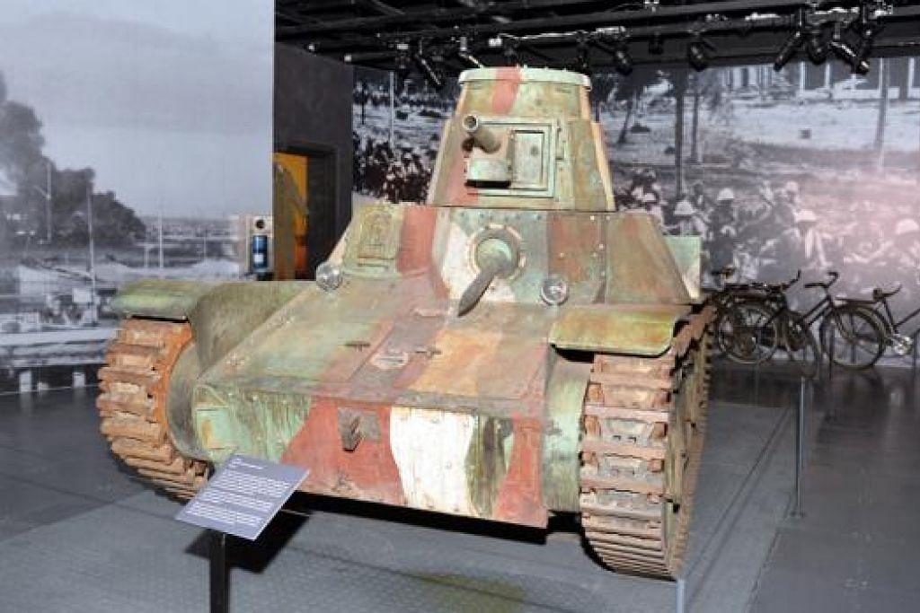 REPLIKA KERETA KEBAL: Tentera Jepun telah menggunakan lebih daripada 2,000 kereta kebal jenis '95 Ha Go' ini di Malaya dan ketika Perang Pasifik.