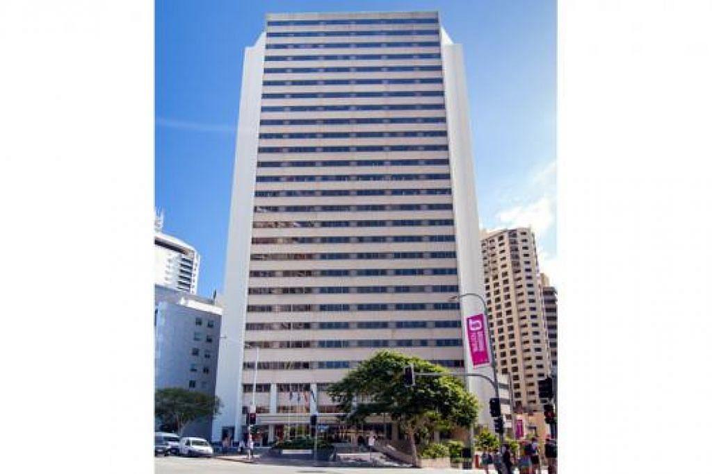 HARTANAH KEDUA: Bangunan di Brisbane ini berada di lokasi baik, mempunyai potensi cerah dan boleh memberi pulangan tetap kepada pelabur. - Foto AEPIM
