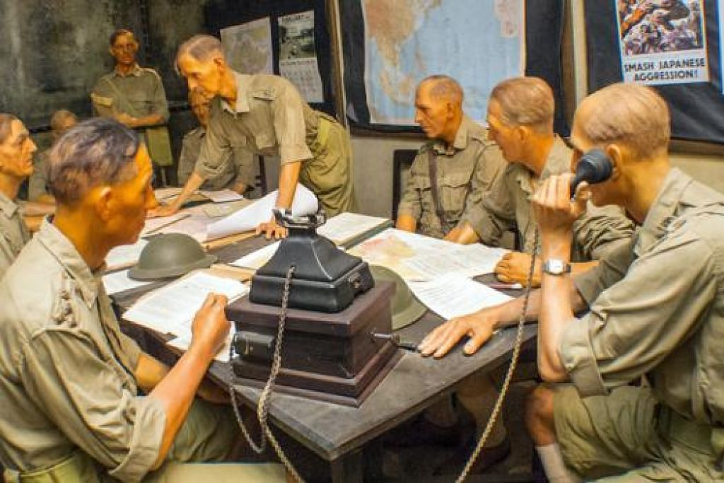 BILIK JADI SAKSI: Bilik arahan di kubu Battlebox di mana keputusan penyerahan Singapura kepada pihak Jepun dilakukan oleh Panglima tentera British di Singapura, Leftenan-Jeneral A.E. Percival. – Foto MUHAIMIN SUZAINI