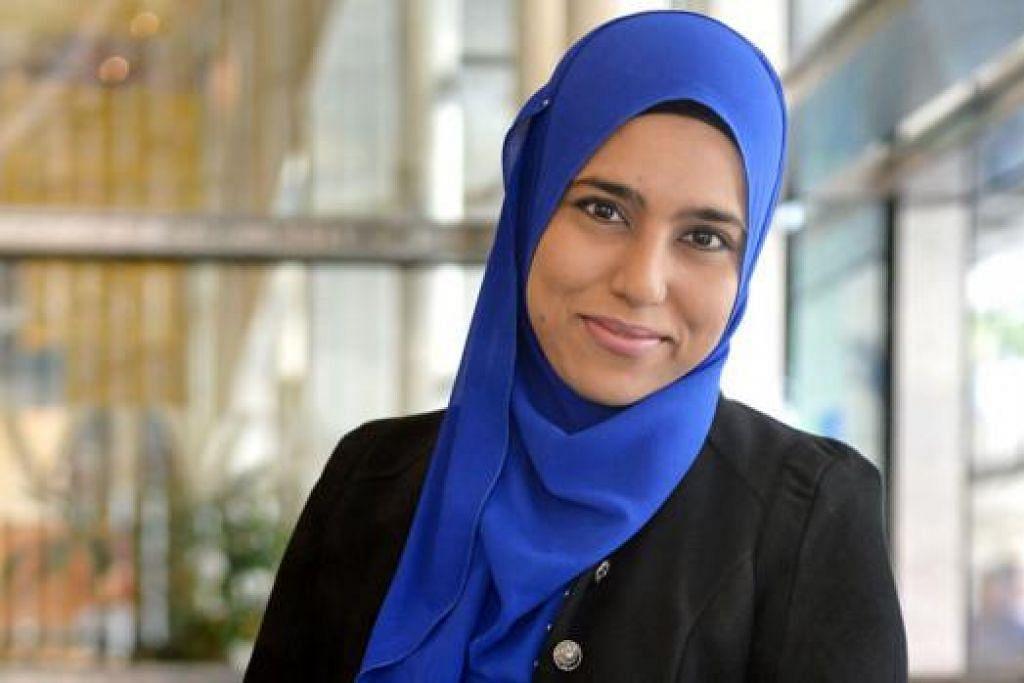 REBUT PELUANG: Cik Latifah Hassan, pengamal undang-undang di Harry Elias Partnership LLP, berhasrat melanjutkan pengajian dalam bidang undang-undang keluarga di UniSIM. - Foto M.O. SALLEH
