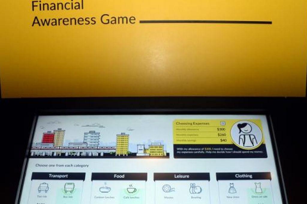 PERSEDIAAN HARI MUKA: Alat interaktif membolehkan pengunjung melihat kesan perbelanjaan hari ini ke atas kedudukan kewangan di hari muka.