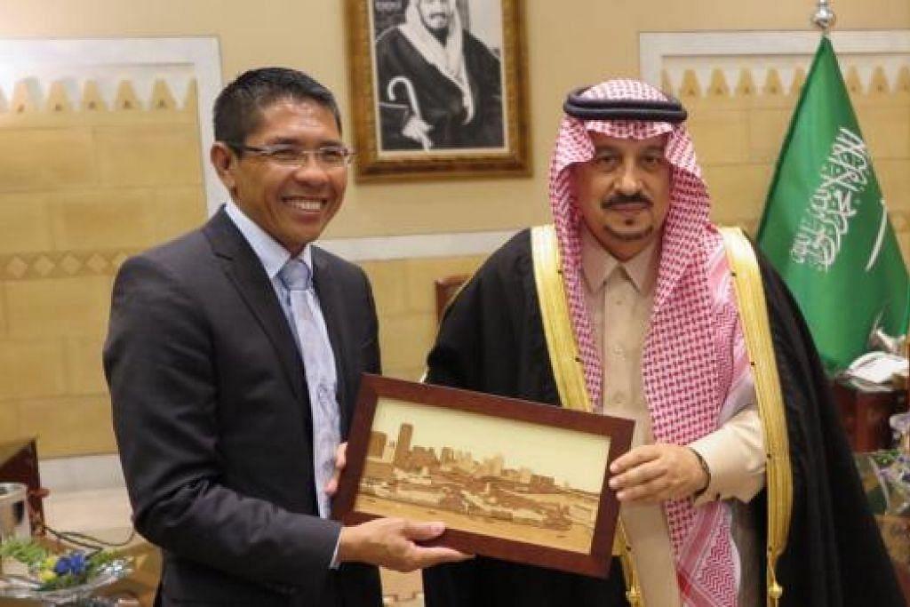 Dr Mohamad Maliki Osman melakukan kunjungan ke atas Gabenur Riyadh, Puteri Faisal Bandar. Gambar MFA