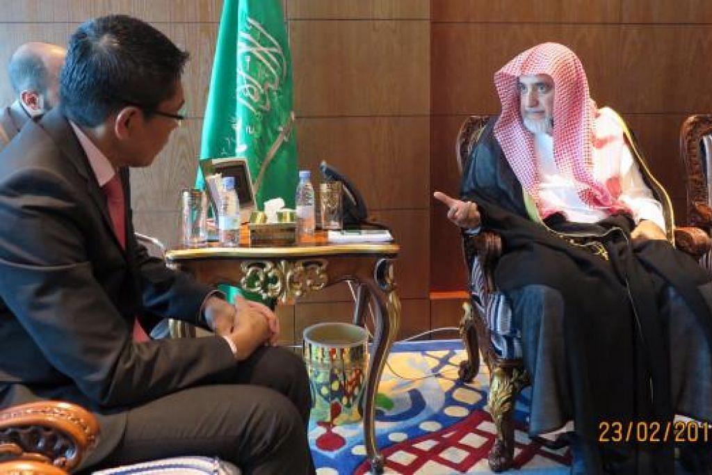 Dr Mohamad Maliki Osman dalam pertemuannya dengan Menteri Hal Ehwal Islam Arab Saudi, Encik Saleh Abdulaziz Al Sheikh, membincangkan cabaran menangani pelampau radikal, terutamanya dalam kalangan belia. Gambar MFA