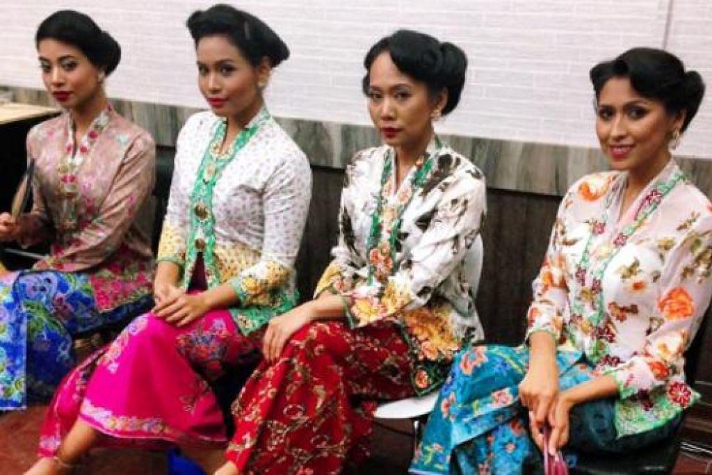 DERETAN SI JELITA: (Dari kiri) Sheiryn Aisiqa, Nur Farhana, Wahyu Rahman dan Nurul Aini menerajui drama menarik yang menyingkap pelbagai perjalanan wanita yang mencari rezeki sebagai 'perempuan joget' di Kelab Bunga Tanjong.
