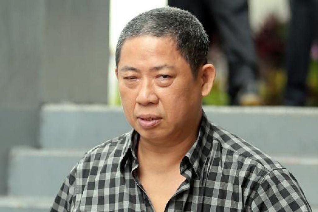 Tan Seng Choon menjadi agresif apabila ditanya ke mana wangnya pergi semasa sesi temu bual bagi permohonan bantuannya. Gambar THE STRAITS TIMES