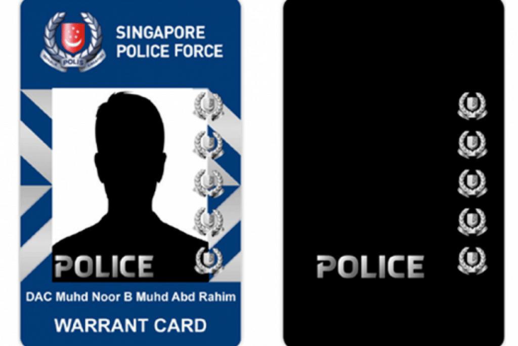 Kad waran baru Pasukan Polis Singapura.