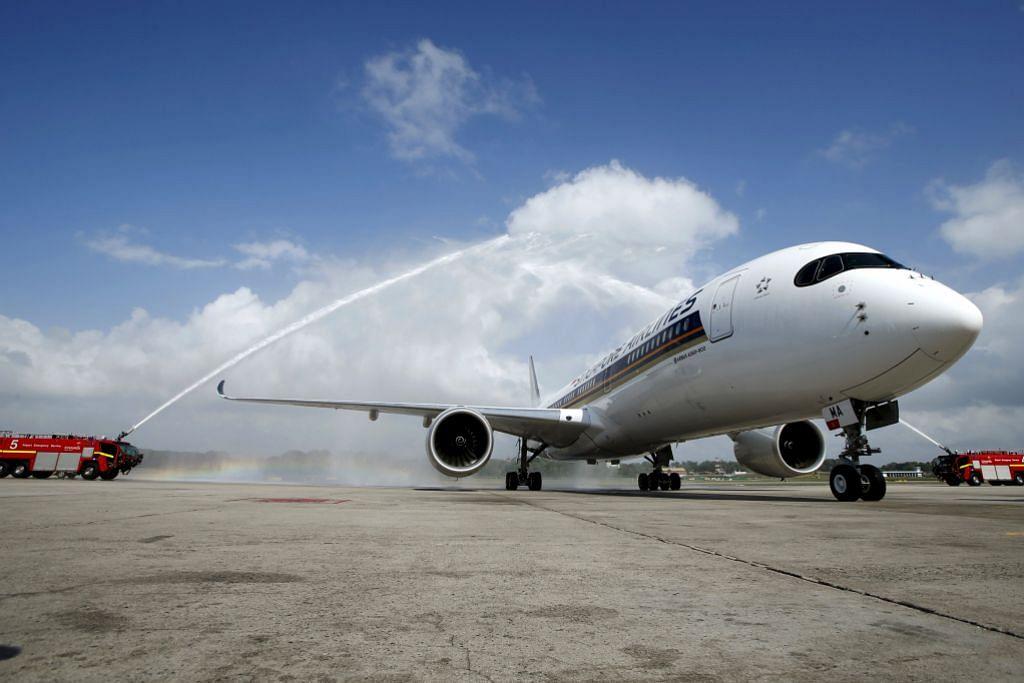 Pesawat baru A350 tiba di Changi